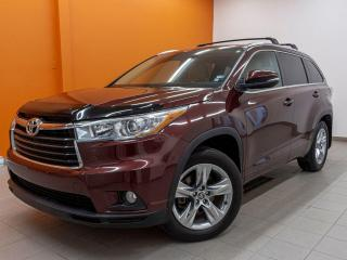 Used 2016 Toyota Highlander LIMITED AWD ALERTE ANGLE MORT CUIR NAV *TOIT PANO* for sale in St-Jérôme, QC