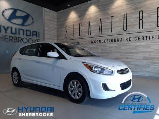 Used 2016 Hyundai Accent GL+A/C+BANCS CHAUFFANTS+BLUETOOTH+CRUISE for sale in Sherbrooke, QC