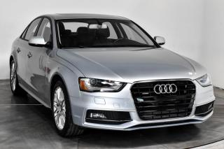 Used 2016 Audi A4 KOMFORT S-LINE PACK QUATTRO CUIR TOIT MA for sale in St-Hubert, QC