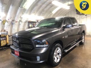Used 2015 RAM 1500 Sport CrewCab Hemi * 4WD * GPS Navigation * Uconnect 8.4AN AM/FM/SXM/HD/BT/NAV * Remote Start and Security * Rear Power Sliding Window * Trailer Brake for sale in Cambridge, ON