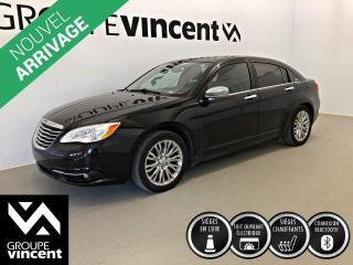 Used 2012 Chrysler 200 LIMITED ** GARANTIE 10 ANS ** Véhicule confortable à petit prix! for sale in Shawinigan, QC