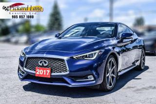 Used 2017 Infiniti Q60 3.0T| CERTIFIED| ACCIDENT FREE| BEAUTIFUL COLOR COMBO! for sale in Bolton, ON