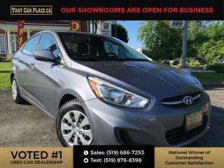 Used 2017 Hyundai Accent GL Htd Seats-Bluetooth-Pwr Windows/Locks/Mirrors-Cruise for sale in London, ON