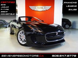 Used 2018 Jaguar F-Type 296HP CONVERTIBLE | ACCIDENT FREE | NAVI | CERTIFIED | FINANCE @4.65% for sale in Oakville, ON