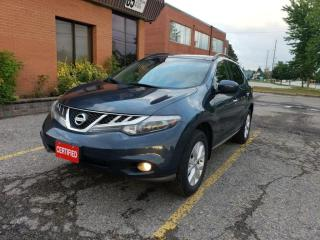 Used 2012 Nissan Murano AWD 4dr|PANORAMIC SUNROOF|HEATED SEATS|BACKUP CAMERA|NAVI| for sale in Richmond Hill, ON