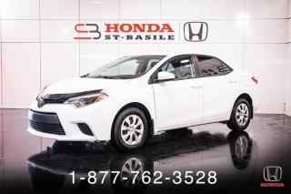 Used 2014 Toyota Corolla CE + MANUELLE + BLUETOOTH + PROPRE + WOW for sale in St-Basile-le-Grand, QC