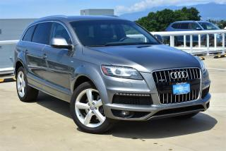 Used 2014 Audi Q7 3.0T 8sp Tiptronic Technik for sale in Burnaby, BC
