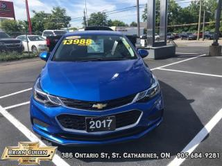 Used 2017 Chevrolet Cruze LT  - Ex-lease - Certified for sale in St Catharines, ON