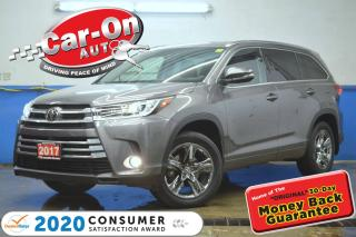 Used 2017 Toyota Highlander Limited AWD 7 Seater LEATHER NAV PANO ROOF ADAPTIV for sale in Ottawa, ON