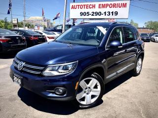 Used 2016 Volkswagen Tiguan 4Motion AWD Comfortline Leather/Navigation/Sunroof/Alloys for sale in Mississauga, ON