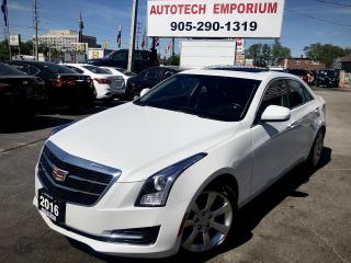 Used 2016 Cadillac ATS AWD Pearl White Navigation/Sunroof/Alloys/Htd Seats/Leather for sale in Mississauga, ON