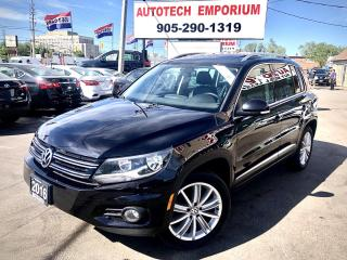Used 2016 Volkswagen Tiguan 4Motion AWD Highline Navi/Leather/Sunroof/Alloys for sale in Mississauga, ON