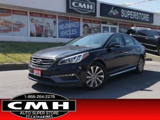Used 2015 Hyundai Sonata Sport  LEATH PANO CAM 10W-P/SEAT HS for sale in St. Catharines, ON