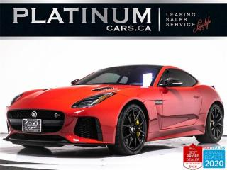 Used 2019 Jaguar F-Type SVR, 5.0L V8, 575HP, SUPERCHARGED, NAV, ADAPTIVE for sale in Toronto, ON