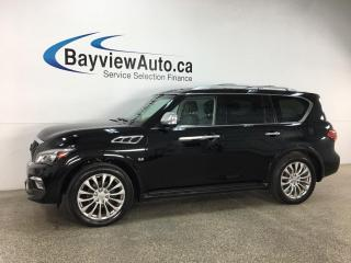 Used 2016 Infiniti QX80 Limited 7 Passenger - OFF INFINITI LEASE! MINT! NOT ORIGINAL! for sale in Belleville, ON