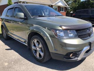 Used 2016 Dodge Journey Crossroad AWD! Sunroof, Leather and 7 Passenger! Heated Steering and Seats, AutoStart, BackupCam, Pwr Seat snd for sale in Kemptville, ON