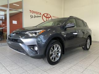 Used 2016 Toyota RAV4 Hybrid * LIMITED * HYBRIDE * CUIR * TOIT * GPS * for sale in Mirabel, QC