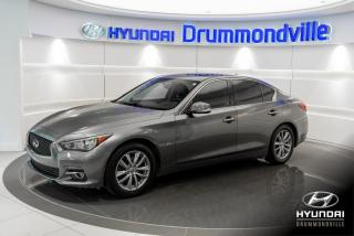 Used 2015 Infiniti Q50 3.7 AWD + GARANTIE + NAVI + TOIT + CUIR for sale in Drummondville, QC