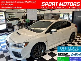 Used 2016 Subaru WRX AWD+Sport Tech+Sunroof+Camera+Leather+AccidentFree for sale in London, ON