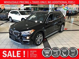 Used 2019 BMW X1 xDrive28i - Nav / Pano Sunroof / Local for sale in Richmond, BC