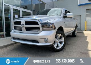 Used 2014 RAM 1500 SPORT - 5.7L HEMI, 4X4, LEATHER, SUNROOF, HEATED AND COOLED SEATS, ALPINE SOUND SYSTEM for sale in Edmonton, AB