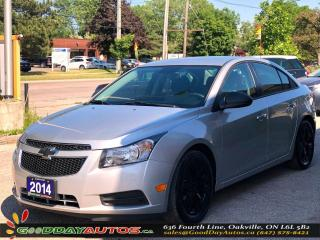 Used 2014 Chevrolet Cruze 2LS|LOW KM|NO ACCIDENT|BLUETOOTH|MANUAL|CERTIFIED for sale in Oakville, ON