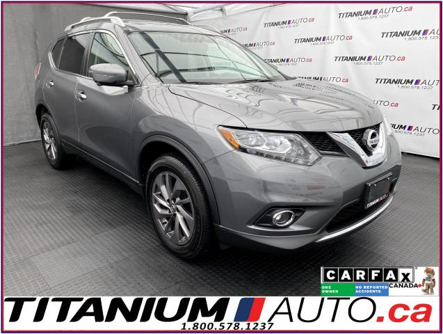 2016 Nissan Rogue SL+AWD+GPS+Pano Roof+360 Camera+Blind Spot+Leather