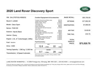 New 2020 Land Rover Discovery Sport SE *Winter Tire PKG for sale in Winnipeg, MB
