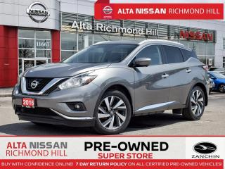 Used 2016 Nissan Murano SL Plat.   Leather   360   Pano   Rear Heated Seat for sale in Richmond Hill, ON