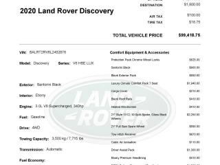 New 2020 Land Rover Discovery HSE Luxury | Versatile Enough For The Whole Family for sale in Winnipeg, MB