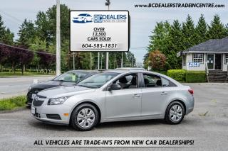 Used 2014 Chevrolet Cruze 2LS Sedan, Finance Options, Very Affordable, Clean! for sale in Surrey, BC