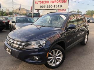 Used 2017 Volkswagen Tiguan Wolfsburg Edition 4Motion AWD Navigation/Leather/Camera/Alloys for sale in Mississauga, ON
