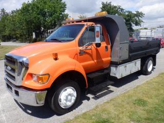Used 2007 Ford F-650 Dump Truck 2WD Dually Diesel With Crane Air Brakes for sale in Burnaby, BC