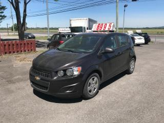 Used 2013 Chevrolet Sonic Ls automatique air climatisÉ for sale in Carignan, QC