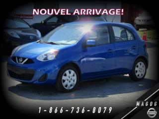 Used 2016 Nissan Micra SV + A/C + BLUETOOTH + BAS KILO! for sale in Magog, QC