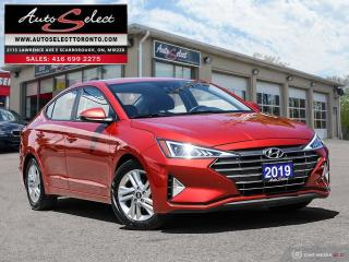Used 2019 Hyundai Elantra Preferred w/Sun & Safety Package ONLY 35K! **SUNROOF**BACK-UP CAM**CLEAN CARPROOF** for sale in Scarborough, ON