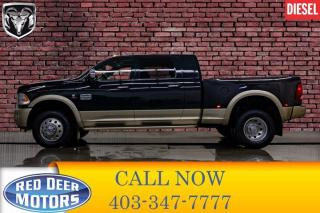 Used 2011 RAM 3500 4x4 Mega Cab Longhorn Diesel Dually Leather Roof Nav for sale in Red Deer, AB