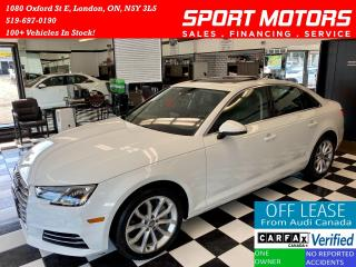 Used 2017 Audi A4 Progressiv+GPS+Camera+Sensors+Accident Free for sale in London, ON