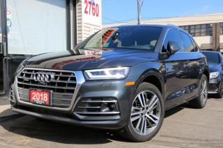 Used 2018 Audi Q5 2.0T Quattro, HUD, BlindSpot, Navi, Cam, Cooled Seats, for sale in North York, ON