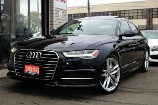 Used 2016 Audi A6 3.0T Quattro, Navi, Cam, Heated+Cooled Seats, BlindSpot for sale in Concord, ON