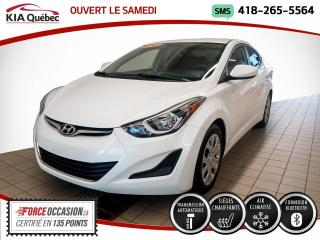 Used 2016 Hyundai Elantra GL* AUTOMATIQUE* A/C* SIEGES CHAUFFANTS* for sale in Québec, QC