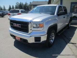 Used 2014 GMC Sierra 1500 WORK READY SL EDITION 6 PASSENGER 5.3L - V8 - VORTEC.. 4X4.. CREW-CAB.. SHORTY.. AUX/USB INPUT.. KEYLESS ENTRY.. TOW SUPPORT.. for sale in Bradford, ON