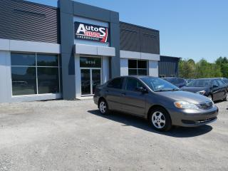 Used 2005 Toyota Corolla CE + INSPECTÉ + TRÈS BAS KILO for sale in Sherbrooke, QC