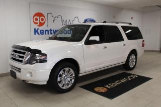 Used 2014 Ford Expedition Max Limited MAX 4x4 | Luxurious Leather | Remote Start | Third Row | NAV | Power Running Boards for sale in Edmonton, AB