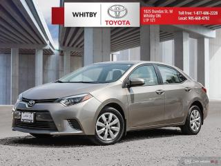 Used 2015 Toyota Corolla LE for sale in Whitby, ON