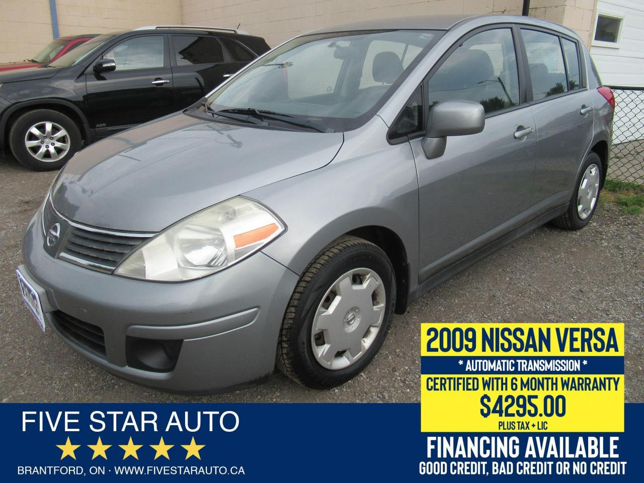 2009 Nissan Versa 1.8 S *Clean Carfax* Certified w/ 6 Month Warranty