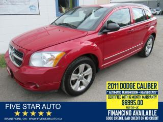 Used 2011 Dodge Caliber SXT - Certified w/ 6 Month Warranty for sale in Brantford, ON