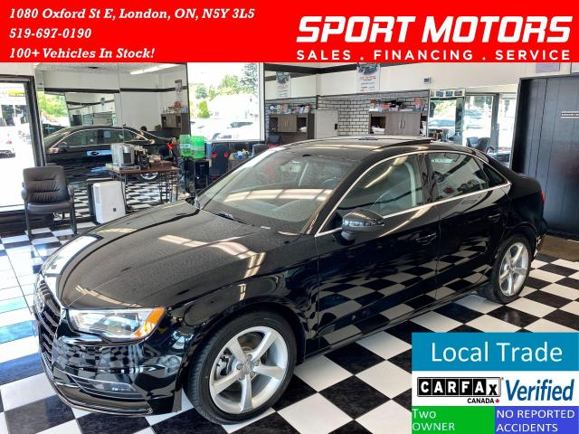 2016 Audi A3 Back up Sensors+Leather+Push To Start+AccidentFree