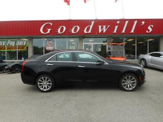 Used 2017 Cadillac ATS LUXURY! HEATED LEATHER! NAV! REMOTE START! for sale in Aylmer, ON