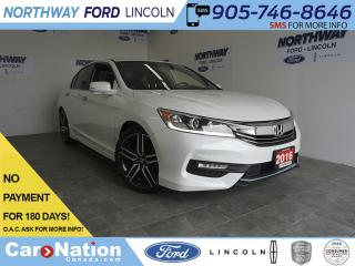 Used 2016 Honda Accord Sedan SPORT | LEATHER | SUNROOF | TOUCHSCREEN | ONLY 30K for sale in Brantford, ON